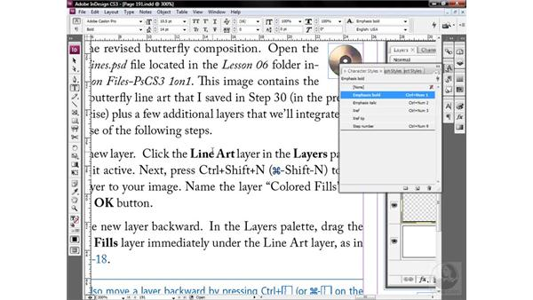 Character styles protect overrides: InDesign CS3 One-on-One: Style Sheets