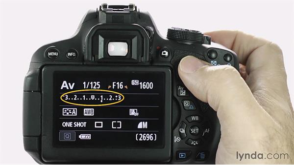 Exposure lock: Up and Running with the Canon Rebel T4i and T5i (EOS 650D and 700D)