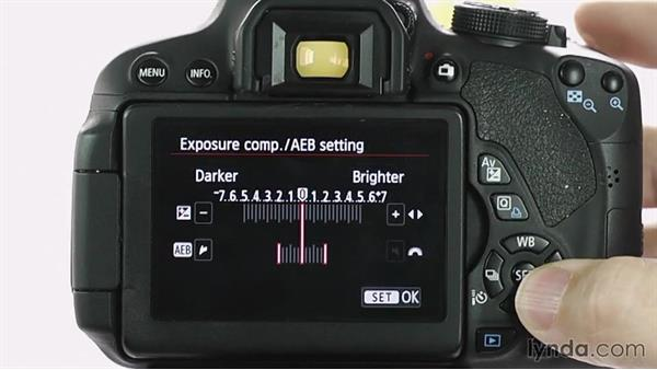 Auto exposure bracketing: Up and Running with the Canon Rebel T4i and T5i (EOS 650D and 700D)