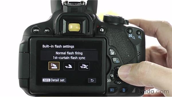 Shooting with built-in flash: Up and Running with the Canon Rebel T4i and T5i (EOS 650D and 700D)
