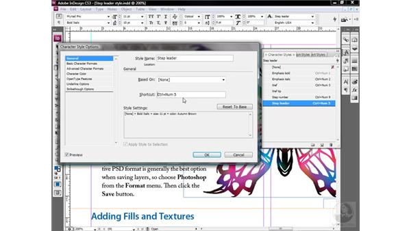 Prioritizing style sheet shortcuts: InDesign CS3 One-on-One: Style Sheets