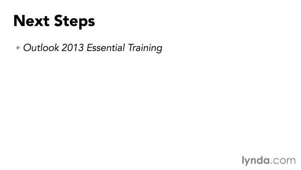 Next steps: Outlook 2013: Efficient Email Management