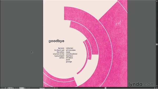 Goodbye: Type Project: Swiss-Style Poster