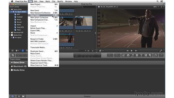 Setting up the project: Commercial Editing Techniques with Final Cut Pro X v10.1.x