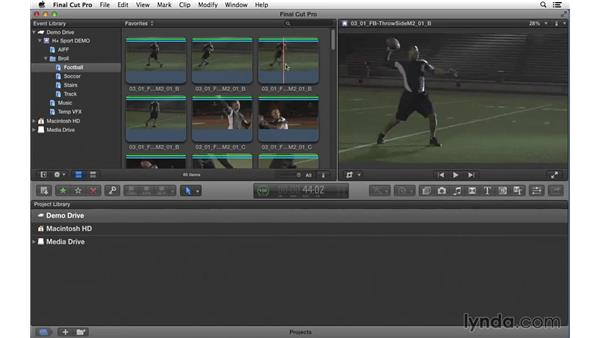 Marking the best shots to prep the edit: Commercial Editing Techniques with Final Cut Pro X v10.1.x