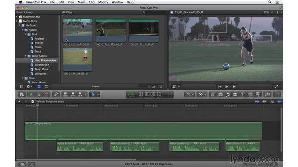 Laying in the visual structure for the spot: Commercial Editing Techniques with Final Cut Pro X v10.1.x