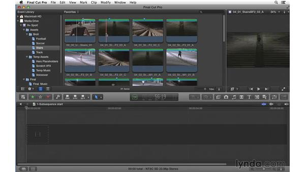 Creating subsequences to experiment and flesh out content: Commercial Editing Techniques with Final Cut Pro X v10.1.x