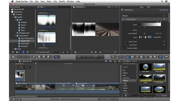 Adding transition effects: Commercial Editing Techniques with Final Cut Pro X v10.1.x