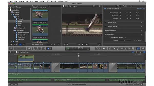 Compositing layers within the spot: Commercial Editing Techniques with Final Cut Pro X v10.1.x