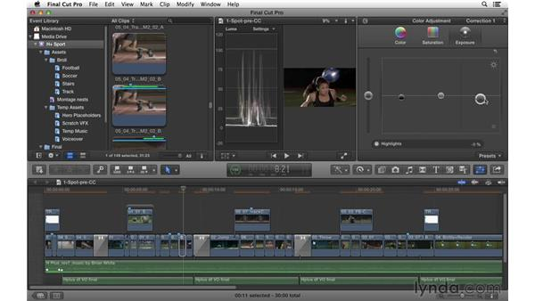 Color correcting for style: Commercial Editing Techniques with Final Cut Pro X v10.1.x