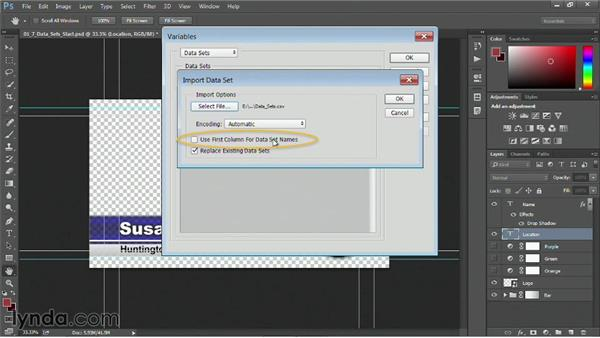 Automating multiple titles with data sets: Motion Graphics for Video Editors: Working with Type