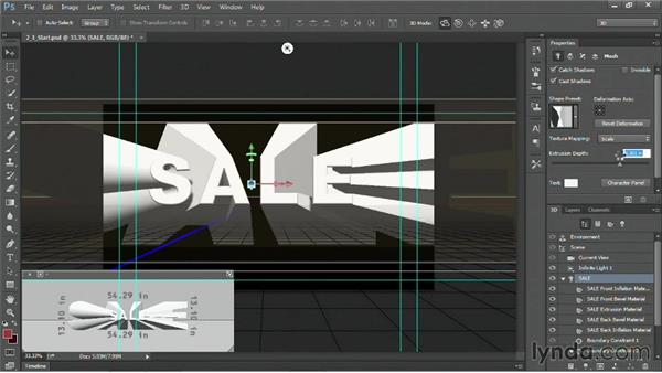Extruding and inflating text: Motion Graphics for Video Editors: Working with Type
