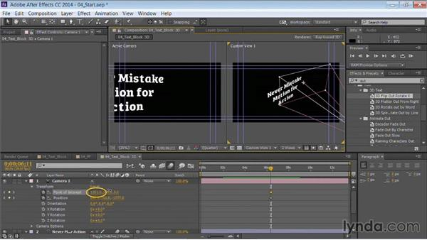 Animating in 3D space in After Effects: Motion Graphics for Video Editors: Working with Type