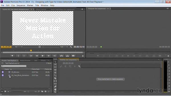 Exporting the animation: Motion Graphics for Video Editors: Working with Type