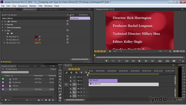 Creating a roll: Motion Graphics for Video Editors: Working with Type