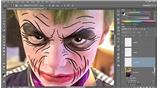 Image for 364 Carving expression lines into The Joker's face