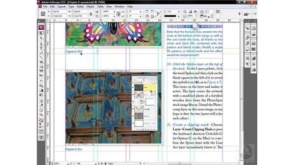 Numbering across threaded frames: InDesign CS3 One-on-One: Style Sheets