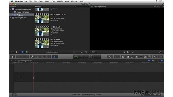 Using the exercise files: Documentary Editing with Final Cut Pro X v10.1.x