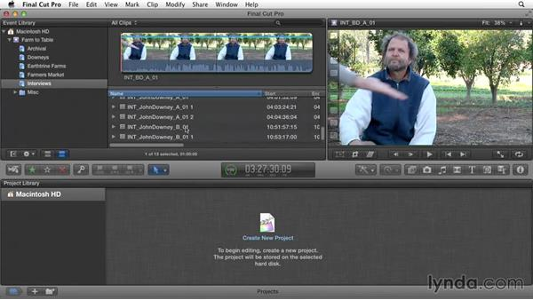 Organizing and screening B-roll footage: Documentary Editing with Final Cut Pro X v10.1.x