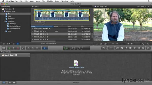 Annotating and renaming clips: Documentary Editing with Final Cut Pro X v10.1.x