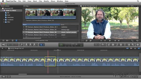 Clarifying the story: Documentary Editing with Final Cut Pro X v10.1.x