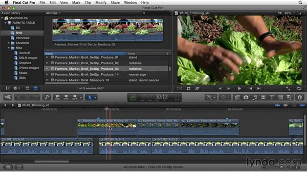 Tying up loose ends: Documentary Editing with Final Cut Pro X v10.1.x