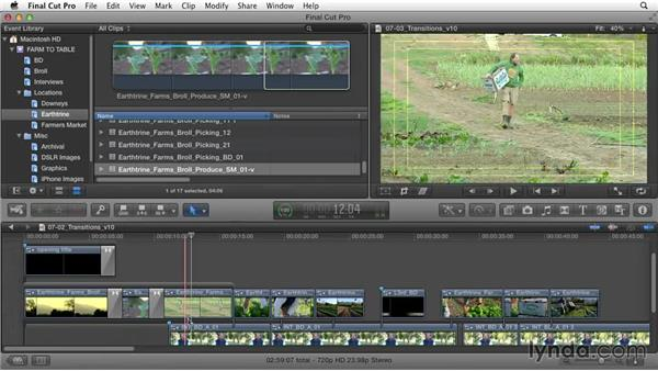Smoothing out the rough edges with transitions: Documentary Editing with Final Cut Pro X v10.1.x