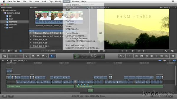 Sharing the movie: Documentary Editing with Final Cut Pro X v10.1.x