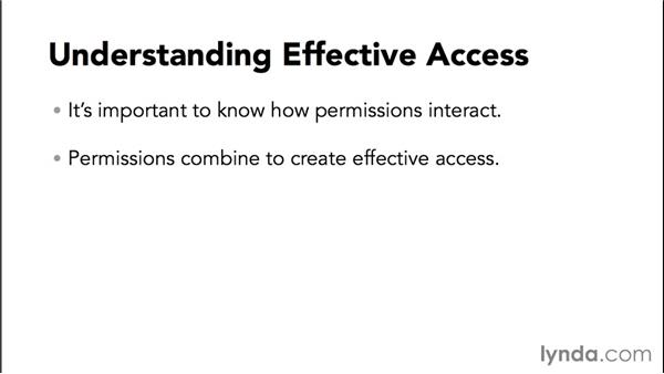 Understanding actual permissions vs. effective permissions: Configuring Basic Microsoft Services