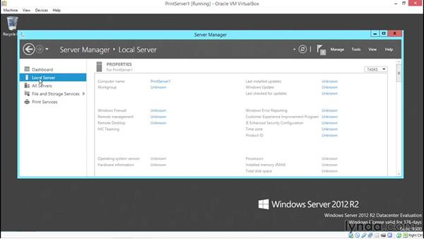 Installing and sharing printers: Configuring Basic Microsoft Services