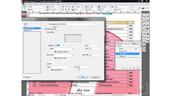 Creating and applying column styles: InDesign CS3 One-on-One: Style Sheets