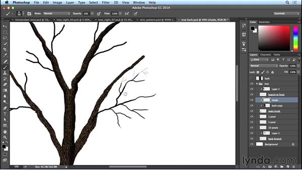 Adding shade to the tree bark: Bert Monroy: The Making of Amsterdam Mist, the Natural Elements