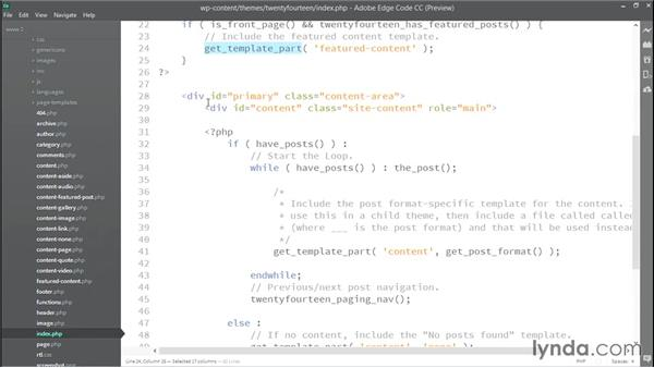 Examples of DRY development in default themes: WordPress Developer Tips: DRY Development