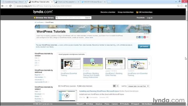 Exploring WordPress theme development with lynda.com: WordPress Developer Tips: DRY Development