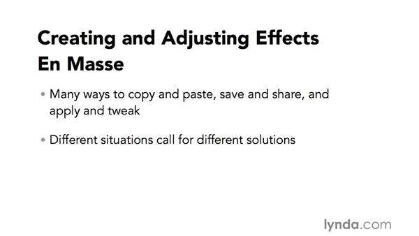Introduction to creating and tweaking effects en masse: Video Post Tips Weekly