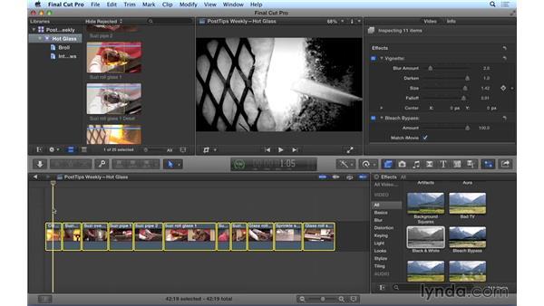 Creating and tweaking effects en masse in Final Cut Pro X: Video Post Tips Weekly