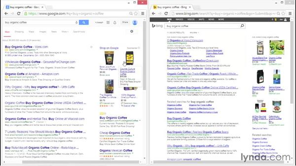 Comparing Bing and Google: Bing Ads Essential Training