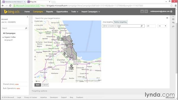 Targeting the right locations and languages: Bing Ads Essential Training