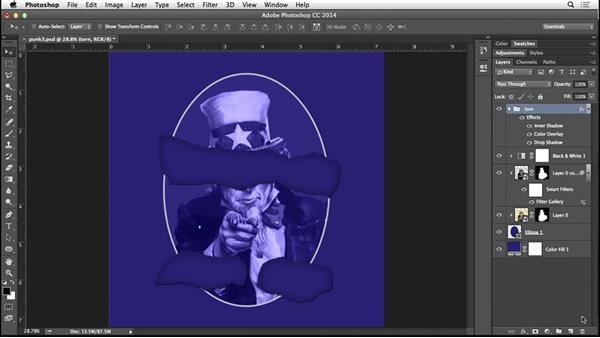 Adding grain and a halftone pattern: Type Project: Punk Album Art