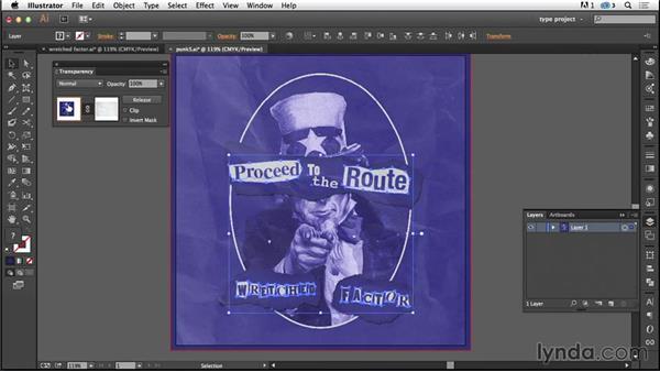 Adding a texture: Type Project: Punk Album Art