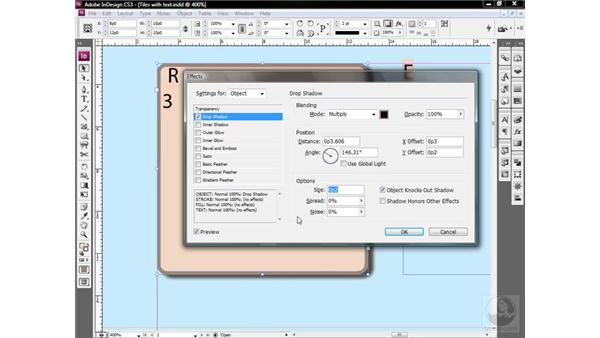 Creating an object style: InDesign CS3 One-on-One: Style Sheets