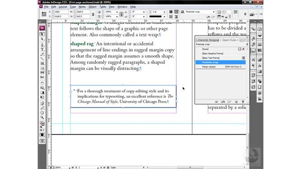 Employing a highly selective object style: InDesign CS3 One-on-One: Style Sheets