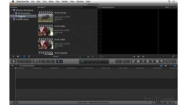 Using the exercise files: Effective Storytelling with Final Cut Pro X v10.1.x