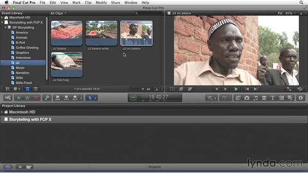 Adding keywords to make clips accessible: Effective Storytelling with Final Cut Pro X v10.1.x