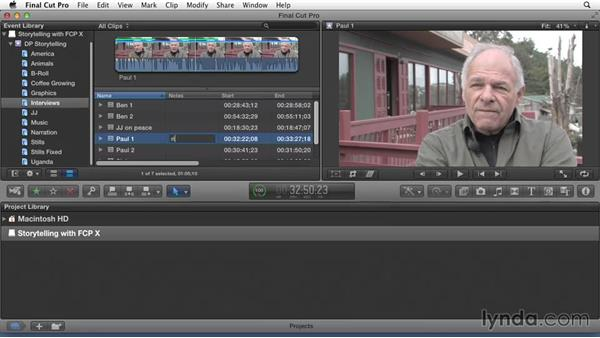 Making notes to capture observations: Effective Storytelling with Final Cut Pro X v10.1.x
