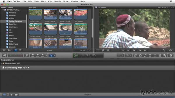Performing a complex search: Effective Storytelling with Final Cut Pro X v10.1.x