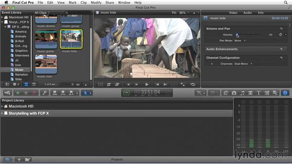 Prepping clips for editing: Effective Storytelling with Final Cut Pro X v10.1.x