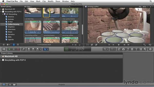 Finding the meat of the clips: Effective Storytelling with Final Cut Pro X v10.1.x