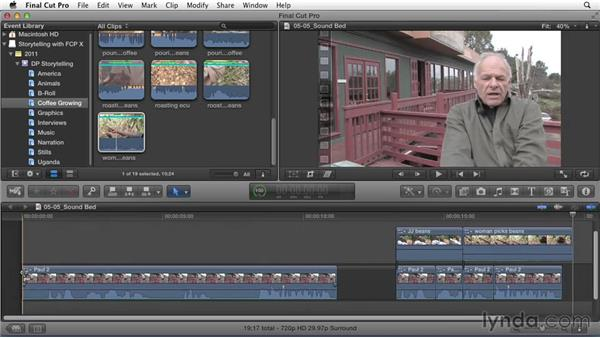 Refining the primary sound bed: Effective Storytelling with Final Cut Pro X v10.1.x