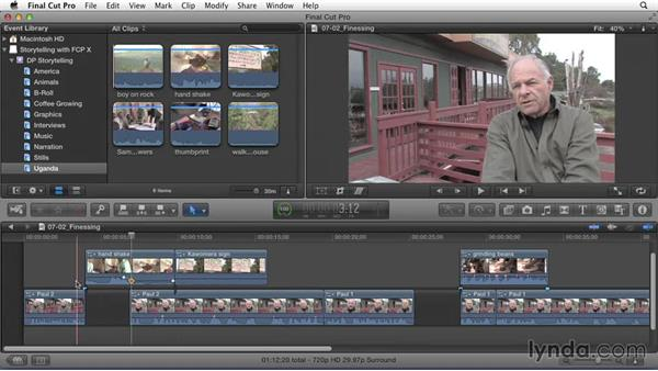 Finessing cutaways to enhance the story: Effective Storytelling with Final Cut Pro X v10.1.x